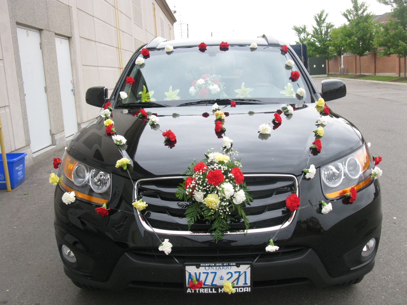 Wedding car decor images
